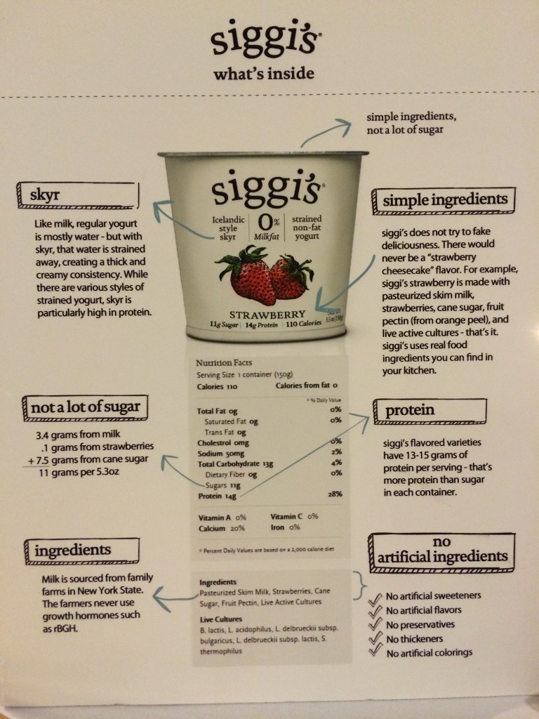 What's in Siggi's yogurt