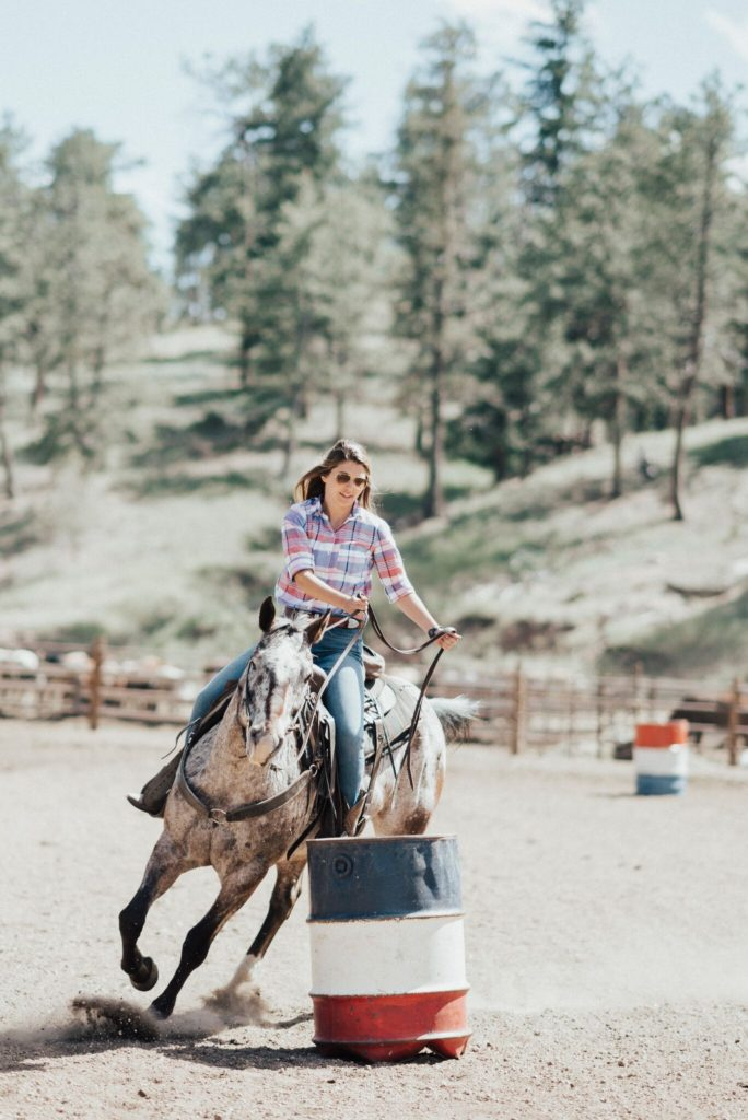 Courtney Quirk Horseback